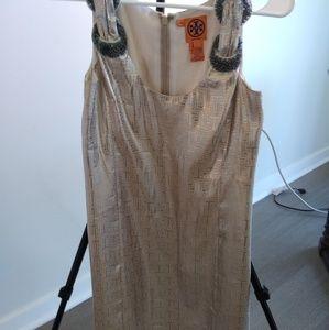 Tory Burch Silver metallic dress